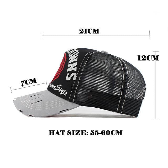 Baseball Cap Summer Snapback Hats Embroidery Trucker Cap