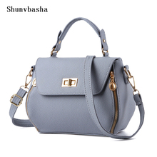 2017 Candy Color Lady And Fresh High Quality Cross Body School Saddle Bag Leisure Pu Leather