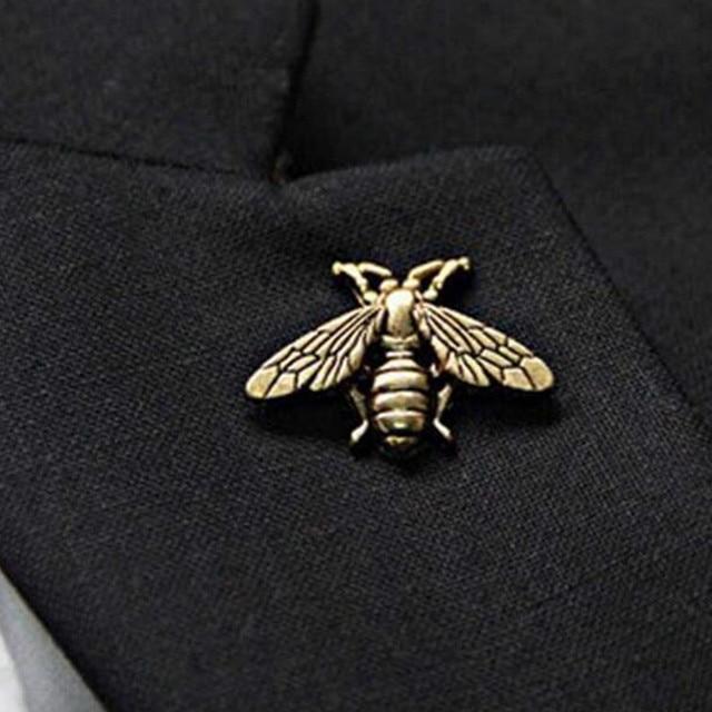 1 pezzo squisito retro tridimensionale in metallo carino insetto spilla commercio all'ingrosso dei monili adatto per gli uomini e le donne