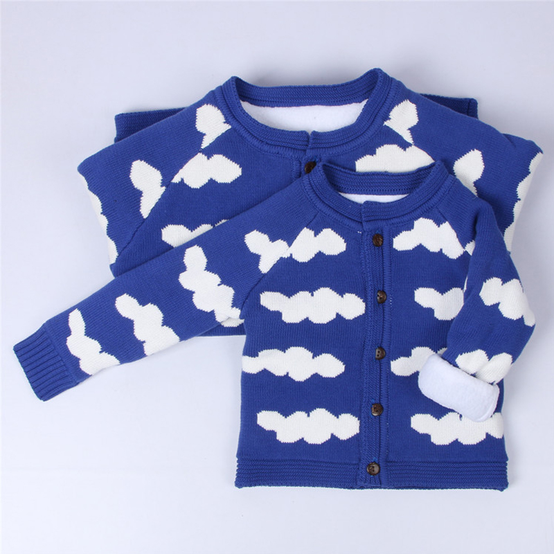 Family Matching Winter Family Look Long Sleeve Cloud Cardigan