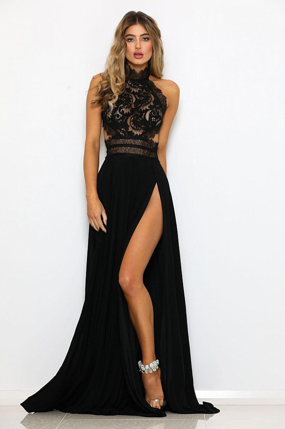 Summer Dinner Dresses For Women Long Party Backless Dress Sexy Lace Formal Dress Elegant Maxi Womens Clothing Plus Size Dresses