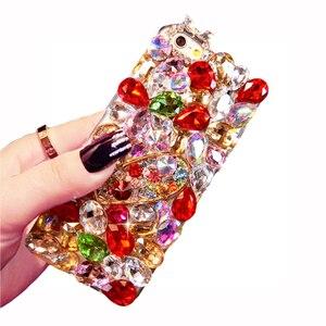 Image 5 - 高級クリスタルカラーの宝石ラインストーンケース huawei 社の名誉 9X プロ 8X 最大 7X 20 プロは 10 9 8lite V20 30 Note8 電話ケースカバー