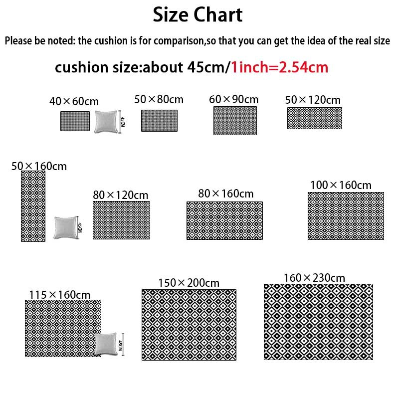 Image 5 - Nordic INS fashion simple geometric mats home bedroom bedside entrance elevator floor mat sofa coffee table anti slip carpet-in Carpet from Home & Garden