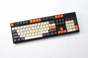Image 2 - pbt doubleshot keycaps cherry profile carbon colorway beige orange grey for xd60 xd64 tada68 96 xd84 xd68 1800 87 tkl 104 ansi