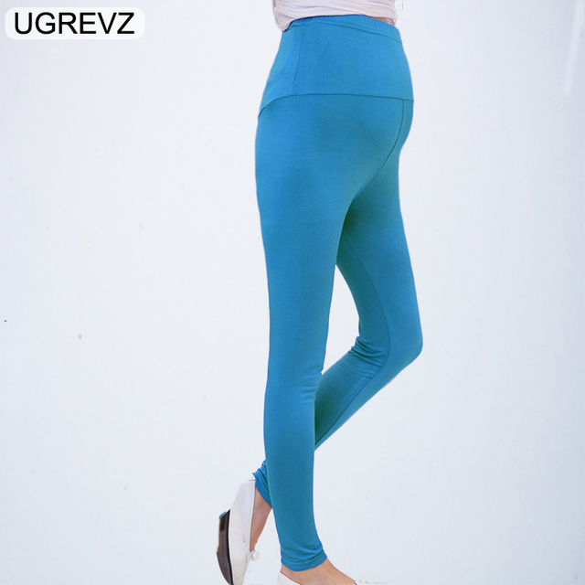 b99390b684675 UGREVZ Maternity Pencil Pants for pregnant Skinny leg pregnancy clothes  maternity clothes leggings for pregnant winter wear Gray