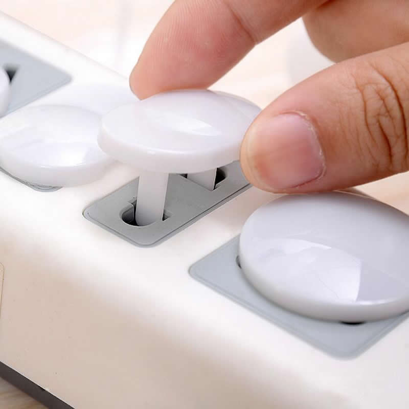 10 Pcs/lot Hot Free Seguridad Plug Socket Safet Baby Children Protection Plug Safety Cover Plastic Safety Electrical Outlet Plug