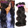 Топ 7А Необработанные Малайзии Объемная Волна 4 Bundle Предложения Лучших Магазин волос Малайзии Девы Волос Объемной Волны Человеческих Волос волнистые