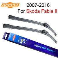 QEEPEI Car Accessory 21 21 Windsheld Wiper Blade For Skoda Fabia II 2007 Present Windscreen Wipers