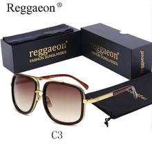 Luxury Brand Design Oversized 18k Gold Plated Square Men's Sunglasses Women's