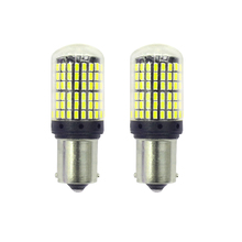 2Pcs New CANBUS Turn Signal light BA15S 1156 4014 144-SMD 6500K constant flow white DC 12V-24V
