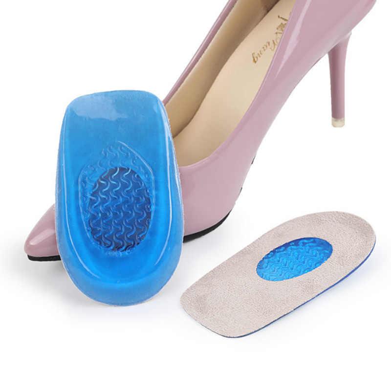 Baru Silikon Gel Tumit Bantal Sol Sol Menghilangkan Nyeri Kaki Pelindung Memacu Dukungan Sepatu Pad Kaki Perawatan Sisipan Pria dan wanita