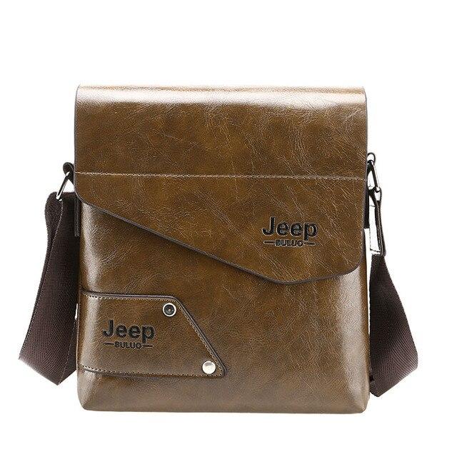 2019 New Jeep Man Messenger Bag Best Leather Male Shoulder Bag