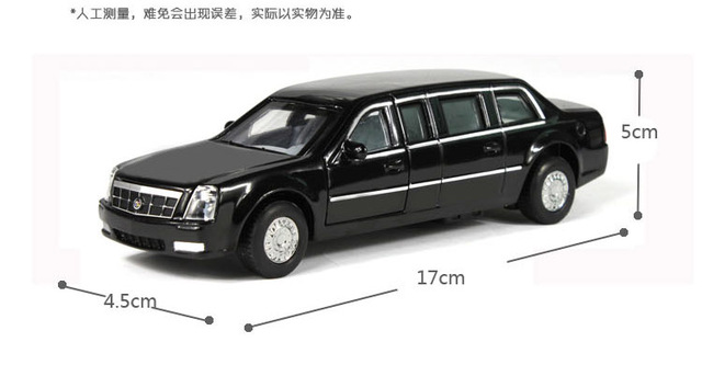 Obama President of the United States car alloy model car metal models Extended edition Cadillac toys