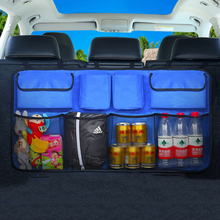 Car Trunk Storage Bag Leather Stowing Tidying Organizer Suspension style of chair back auto trunk receptacle bag