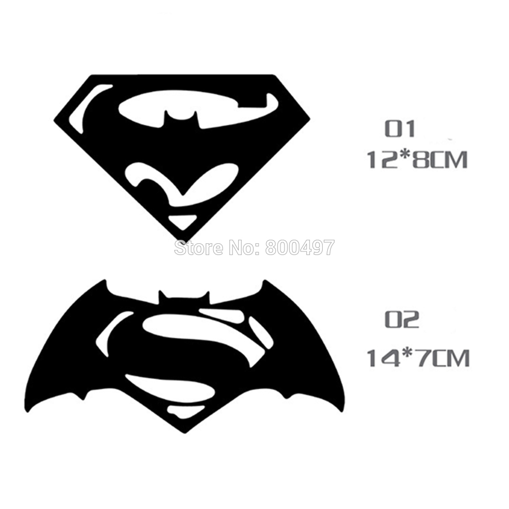 10 x new styling funny logo superman and batman decoration sticker car body decal for bmw benz audi fiat toyota kia honda tesla in car stickers from