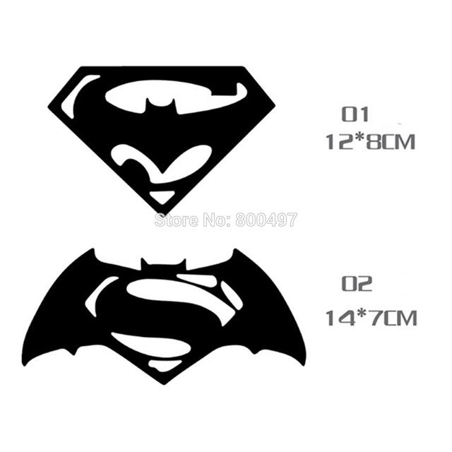 10 x new styling funny logo superman and batman decoration