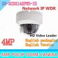Новая Английская Версия IP Камера 4MP Прошивки V5.3.3 Многоязычная Мини Купольная Камера POE IP Камеры ВИДЕОНАБЛЮДЕНИЯ DS-2CD2142FWD-IS