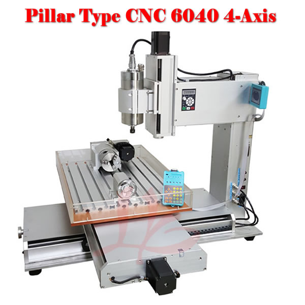 high performance CNC router machine 6040 with rotation axis for metal wood stone carving 110 220v 1500w 4 axis metal milling machine cnc 6040 with limit switch for metal wood cutting