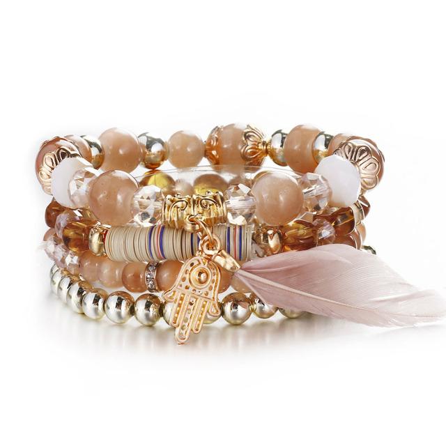 Vintage Crystal Bracelet Set (4pcs)
