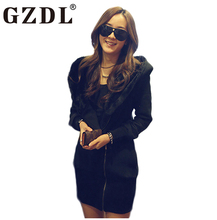 GZDL Autumn Winter Hoodie Women Coat Sudaderas Mujer Lady Warm Casual Jacket Outerwear Hooded Hoodies Sweatshirts