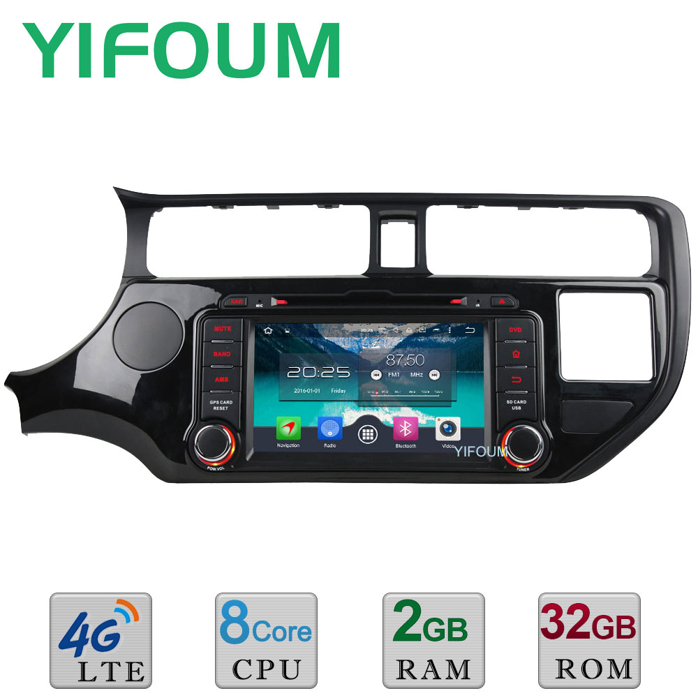 Android 6.0 Octa Core 4GB RAM 32GB ROM 4G WIFI DAB+ RDS Car DVD Multimedia Player Radio For KIA RIO K3 2011 2012 2013 2014