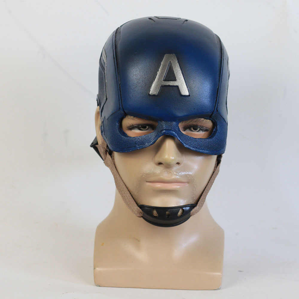 Avenger 3 US Captain PU Mask Helmet Halloween Party Movie Props Cosplay Captain America Latex Mask Helmet