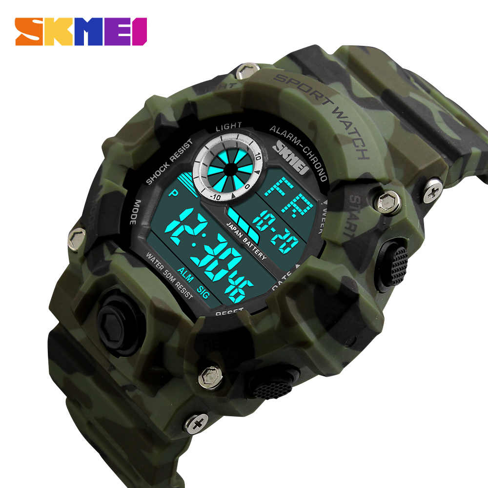 257cf0ceb ... S-Shock SKMEI Men Sport Watches Male Army Camouflage military watch LED  Digital-Watch ...