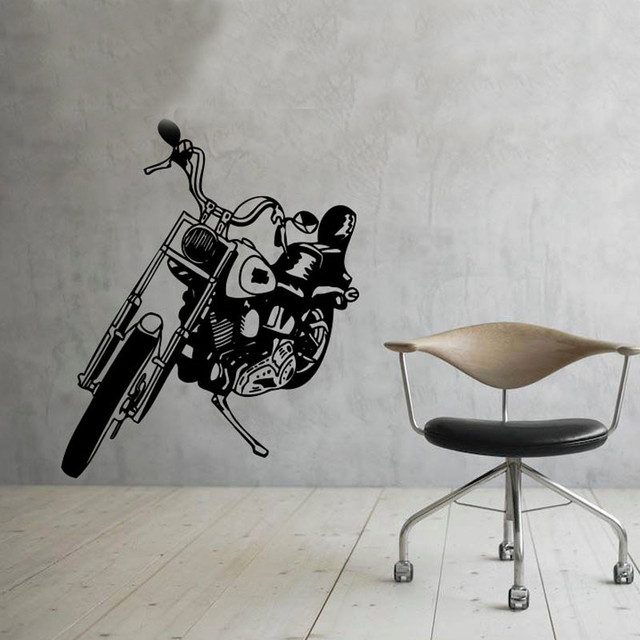 Motorbike Wall Decals Murals Home Decor Living Room Removable Vinyl Wall Stickers Creative & Motorbike Wall Decals Murals Home Decor Living Room Removable Vinyl ...