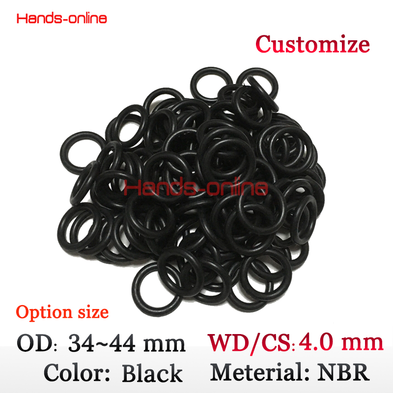 лучшая цена Optional 10x CS4.0mm x OD 34 35 36 37 38 39 40 41 42 43 44mm NBR Rubber O ring O-ring Oring Seal Round Rubber Washer