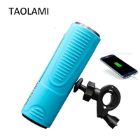 Wireless Bluetooth Speakers Outdoor Bicycle Portable Subwoofer Bass Speaker Waterproof Power Bank LED flashlight For Bike