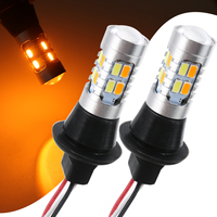 1 Pair 7440 T20 5730 20LED Auto Car Dual Color White Amber Switchback Reverse Front Turn