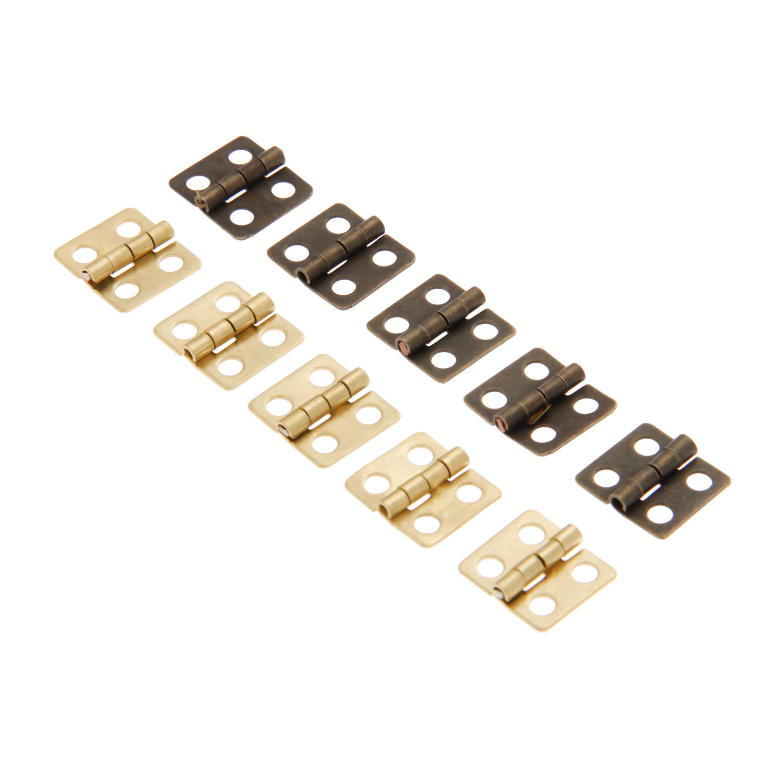 40Pcs Antique Mini Cabinet Drawer Door Furniture Butt Hinges 4 Holes Jewelry Boxes Decorative Hinges Furniture Hardware 13 12mm in Cabinet Hinges from Home Improvement