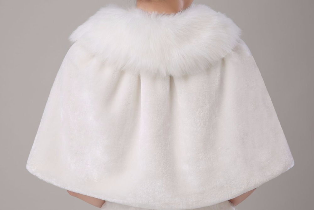 Купить с кэшбэком Walk Beside You Real Photos Ivory Fur Stole Cape Wedding with Ribbon Winter Wedding Coat Wedding Accessories Stock