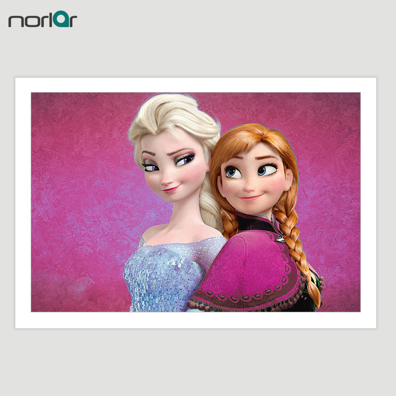 Unframed Hd Print Animated Movie Ice Queen Elsa Anna Picture Poster Modern Home Decor Kids Wall Art Printing Canvas Painting