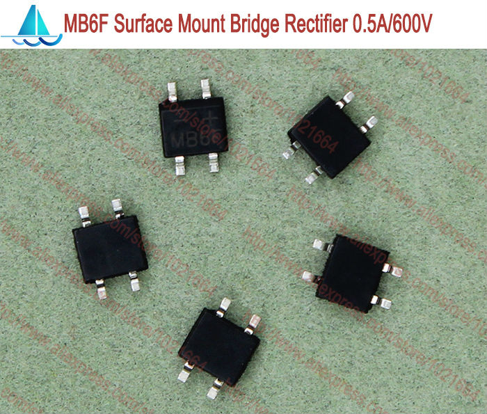 Electronic Components & Supplies Just 20pcs/lot Mb6f Sop-4 4pin Smd Miniature Glass Passivated Single-phase Bridge Rectifier 0.5a 600v Consumers First Active Components