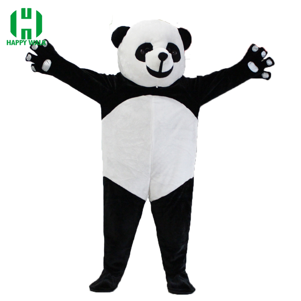Panda Mascot Costume Cartoon Character Carnival Party Costume Halloween Fancy Cosplay Costumes Panda Performance Clothing