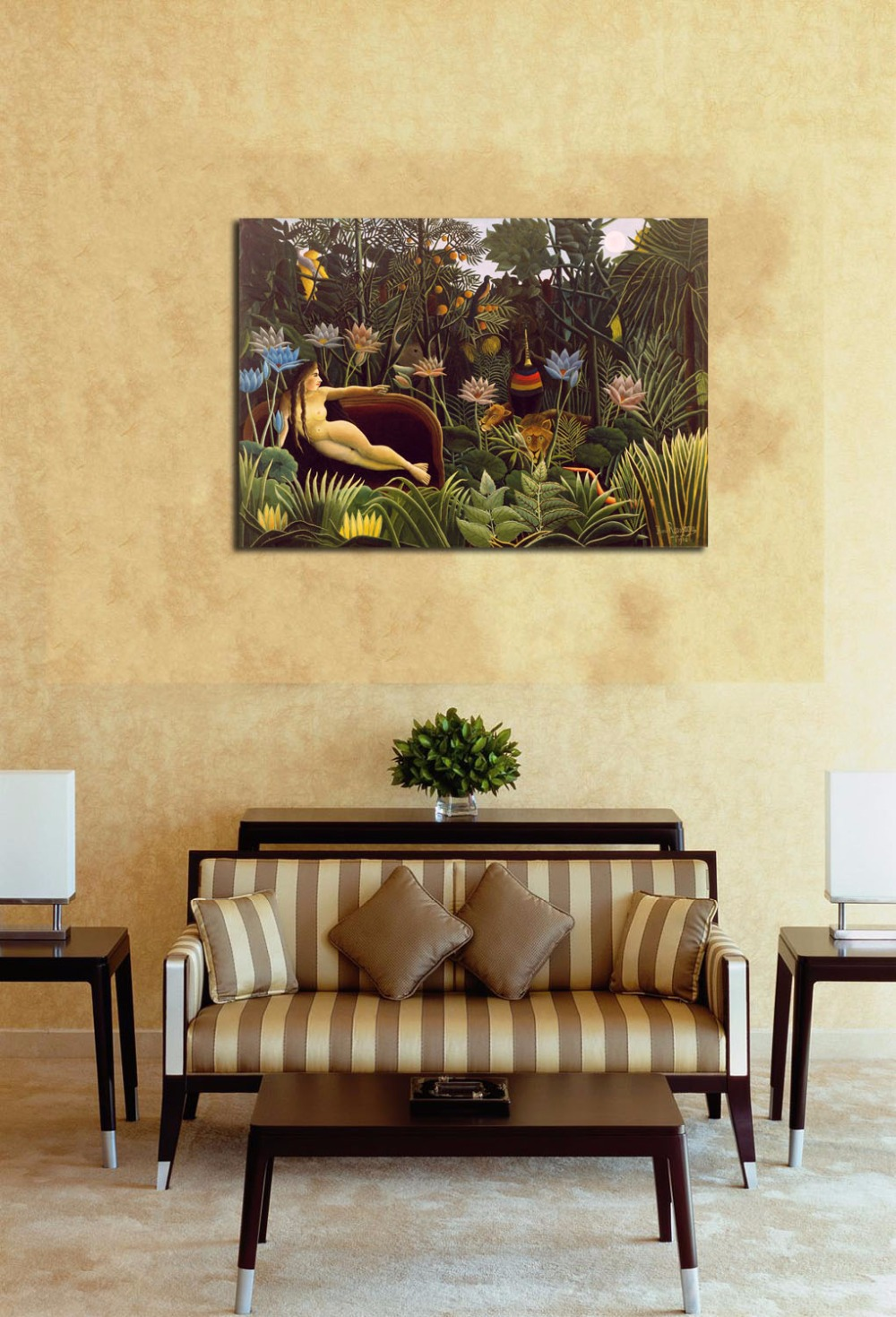 Aliexpress.com : Buy Nude Woman In Wild Forest Oil Painting Printed ...
