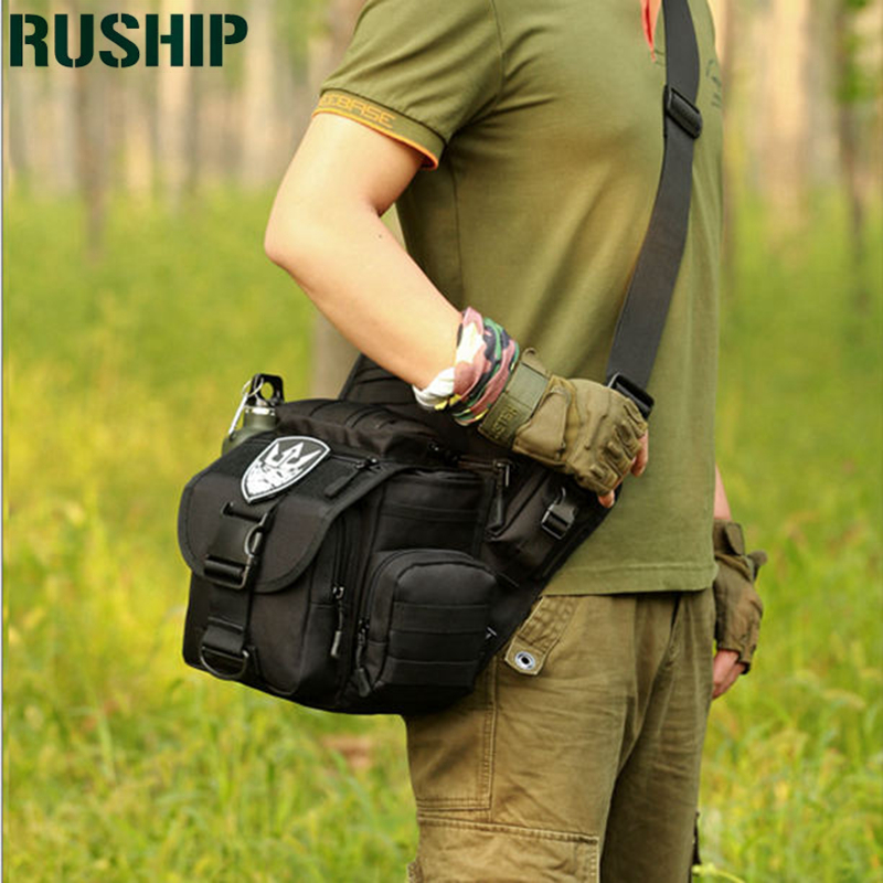 Satchel Big Unisex Tactics Waterproof Military Camouflage Trekking Travel Bags Shoulder Bags Multifunctional Camera Saddle Bag