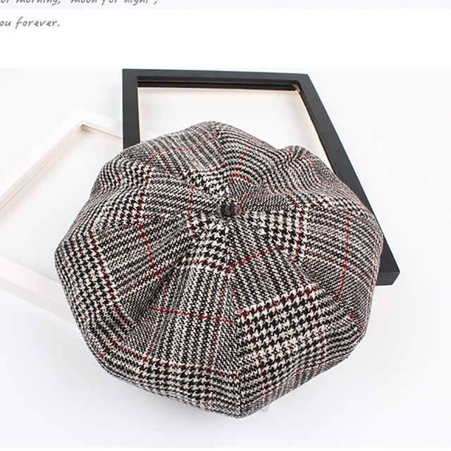 50f8ace67f3 Cool Stuff Cap 6 Plaid for Women Baseball Tennis Awning Female Hats Vintage  British Style Hat