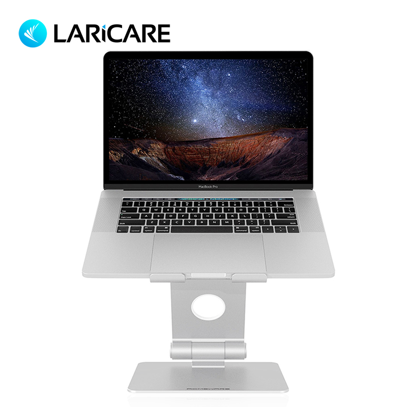 LARICARE support d'ordinateur portable en alliage d'aluminium pour Macbook. Support tablette pour IPad Surface Pro. Prend en charge tous les ordinateurs portables et tablettes