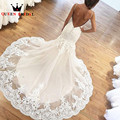 Custom Size Mermaid Backless Lace Tulle Long Tail  Luxury Sexy Formal Bride Dress New Wedding Dresses vestidos de noiva LE37