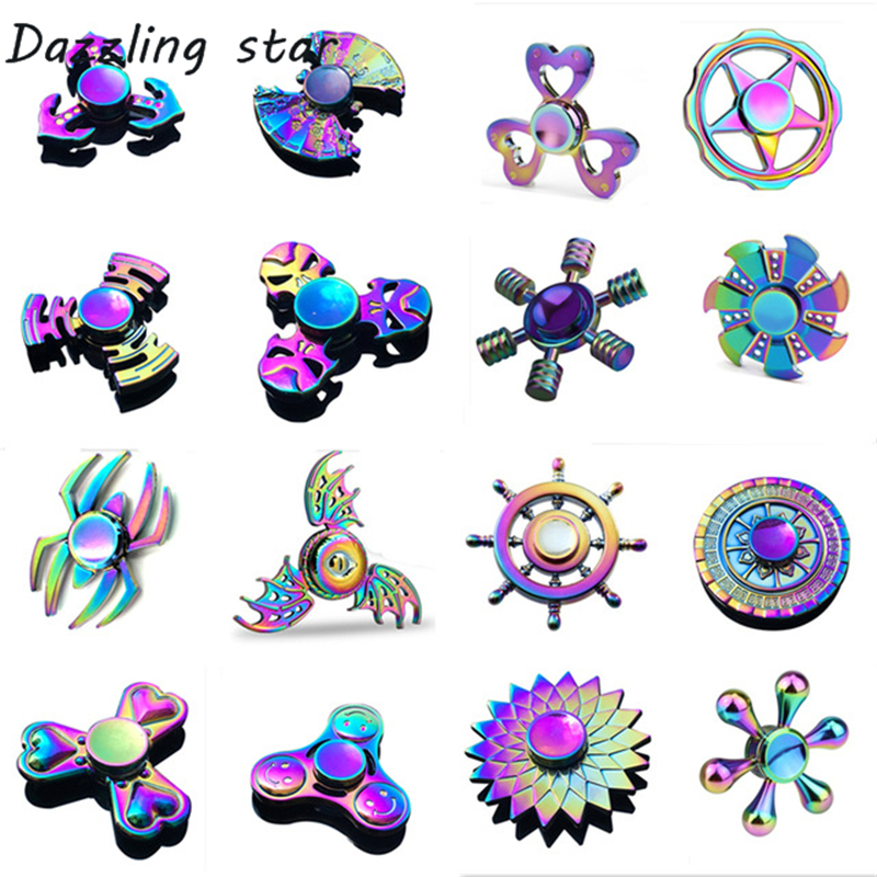 EDC Fidget Spinners Anti-Anxiety-Toy Stress Focus ADHD Relieves Metal