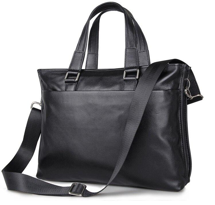 J. м. dj. м. D Модные из натуральной коровьей кожи Портфели ручка сверху тонкий Бизнес сумка Для мужчин сумка для ноутбука черные офисные сумка