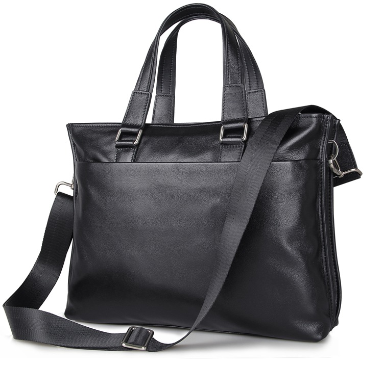 j m dj m d fashion real cow leather briefcase top handle slim business bag men 39 s laptop bag. Black Bedroom Furniture Sets. Home Design Ideas