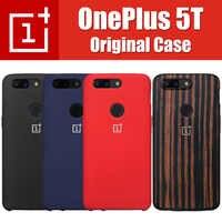 100% Original Pack Oneplus 5T Case Original Sandstone Silicone Karbon 1+5T Back Cover