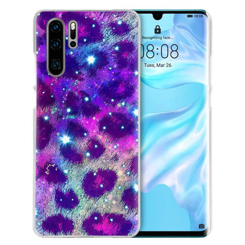 セクシーな花ヒョウ柄のケース Huawei 社 P20 P30 1080p スマート 2019 ノヴァ 4 3i P10 P9 P8 メイト 10 20 lite プロミニハード PC 電話カバー