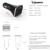 Yianerm Indicador LED 4 usb Cargador de Coche DC 5 V 6.8A cargador de teléfono para coche para iphone ipad samsung xiaomi htc meizu lg