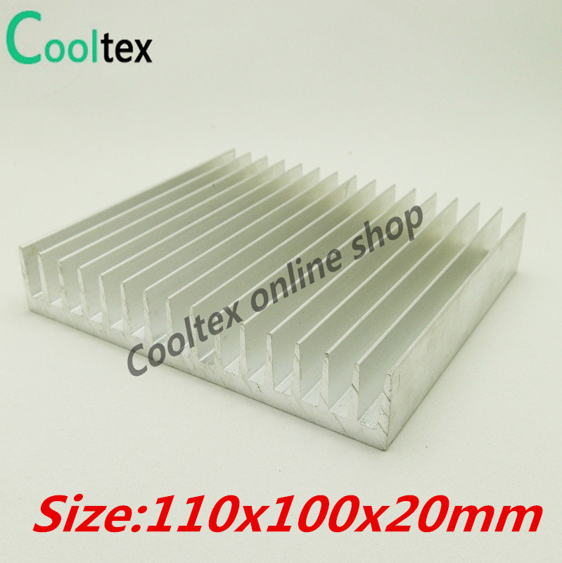 110x100x20mm Aluminum HeatSink Heat Sink radiator for electronic Chip LED COOLER cooling 100% new 1 pcs aluminum radiator heat sink heatsink 60mm x 60mm x 10mm black