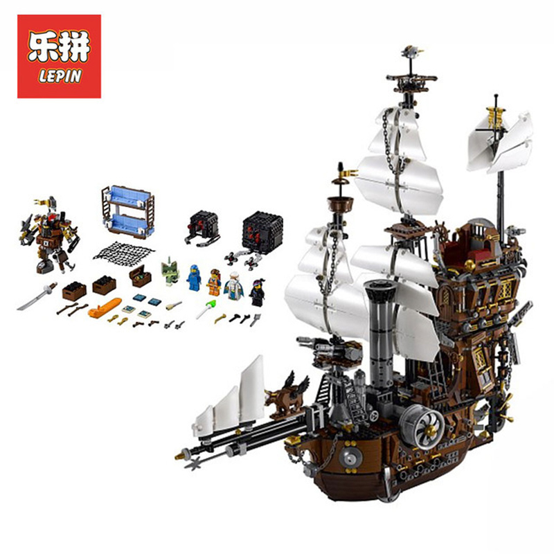 DHL Lepin Set 16002 2791Pcs Pirate Ship Figures MetalBeard's Sea Cow Model Building Kits Blocks Bricks Kid Toys Compatible 70810 16002 2791pcs pirate ship metal beard s sea cow set model building kits mini blocks compatible with 70810 toys lepin