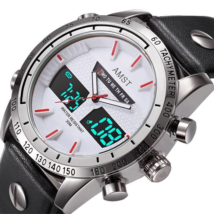 2019 nouveau Amst montres sport loisirs étanche montre électronique mode Quartz gros Style chaud horloge hommes étudiants